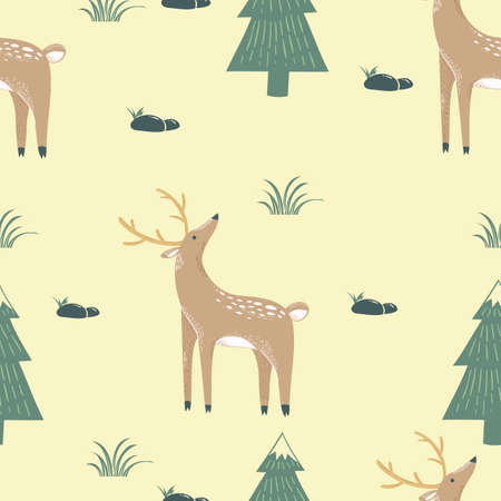 Reindeer wrapping paper design