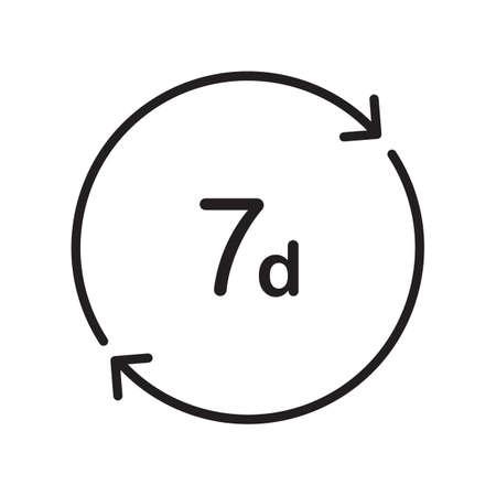 7 días icono Foto de archivo - 77176588