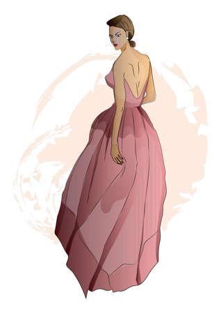 glamorous: Fashion model sketch