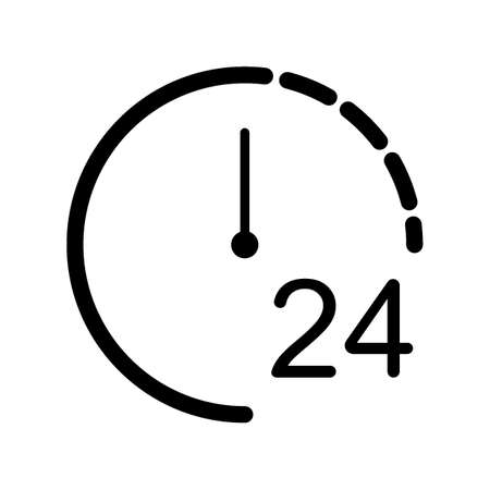 Clock 24hours icon