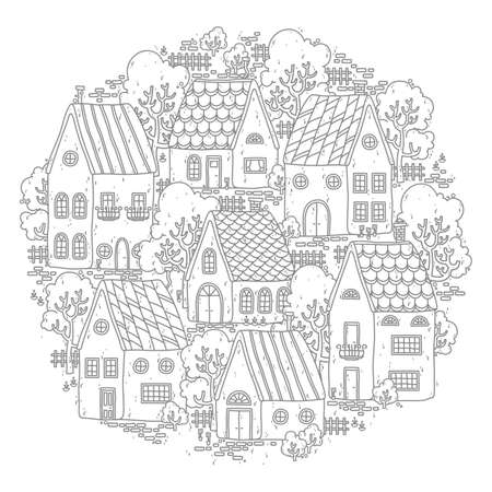 Intricate design of houses