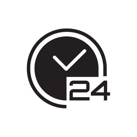 24 hours clock icon Illusztráció