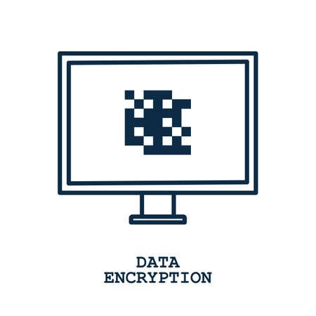 Data encryption concept Фото со стока - 77171001