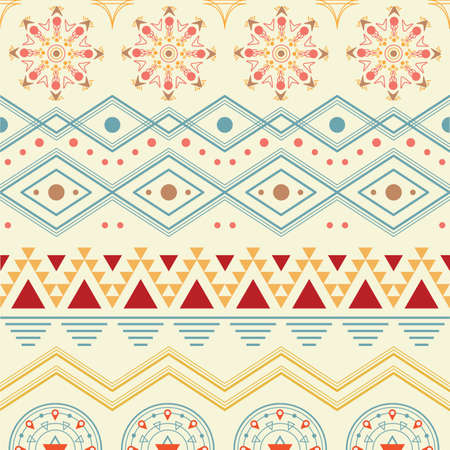 Seamless aztec background Illustration