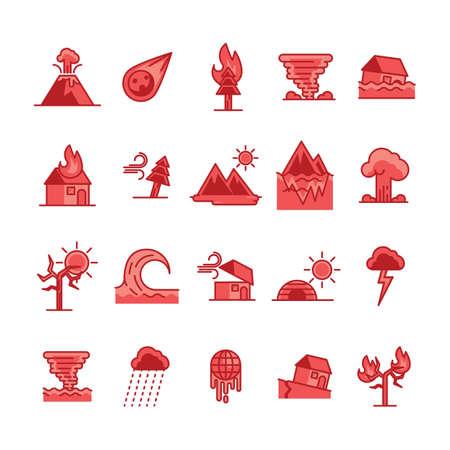 Set van ramp pictogrammen