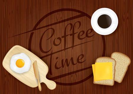 Coffee time design Illustration