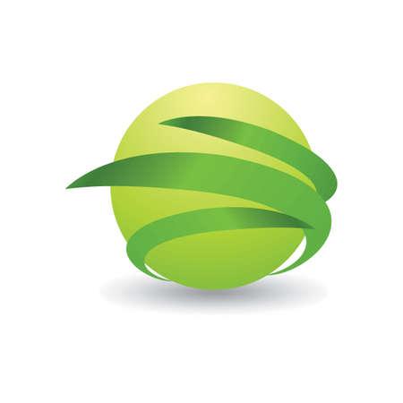 Spherical logo element design Ilustração