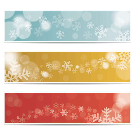 collection of winter banners
