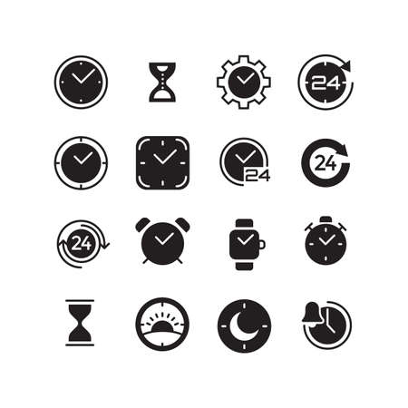 Cet of time icons