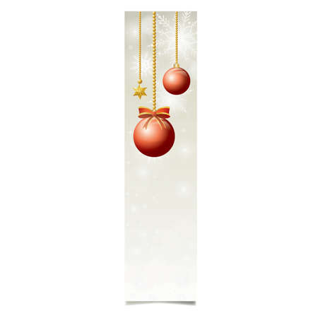 Snowflake web banner with ornaments
