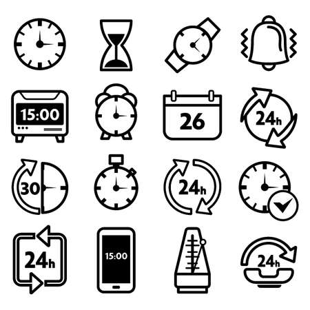 일련의 시간 아이콘