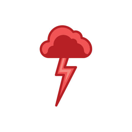 cloud with lightning Illustration