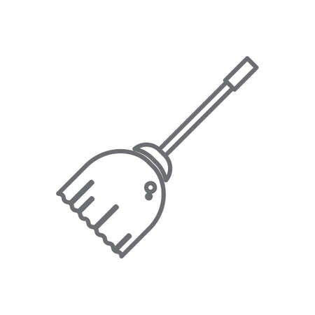 broomstick icon illustration Illustration