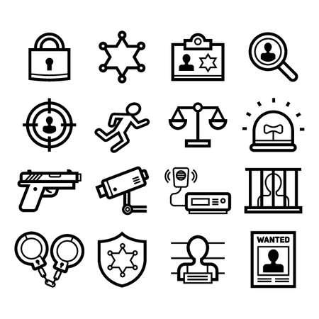 Set of criminal icons