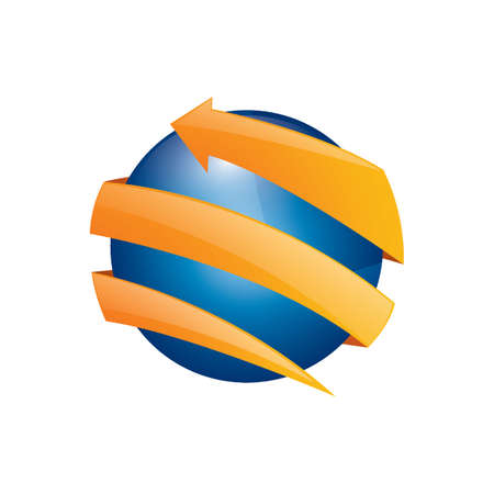 Globe design Ilustração