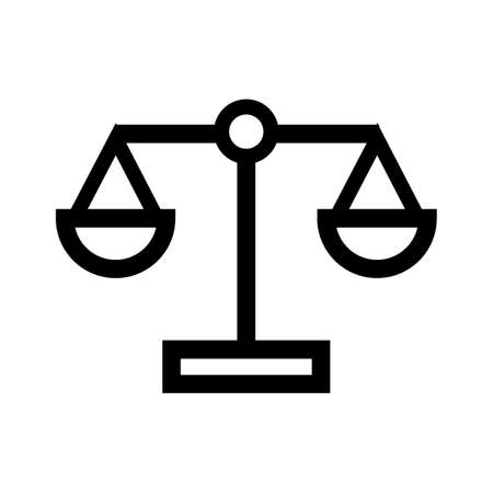 basic law: scales of justice Illustration