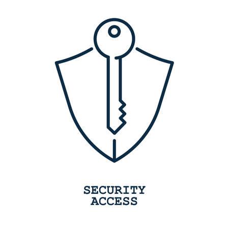 security access Stock Vector - 77504788