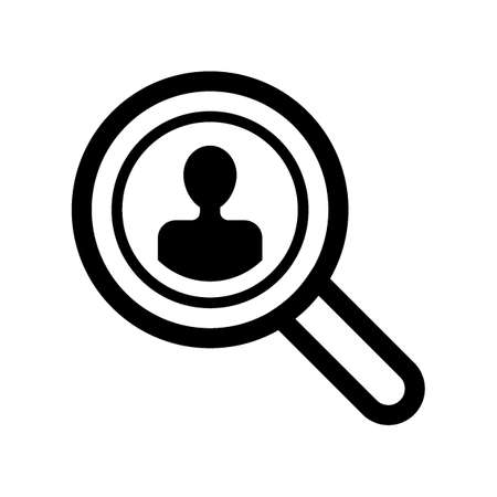 Magnifying glass with person icon