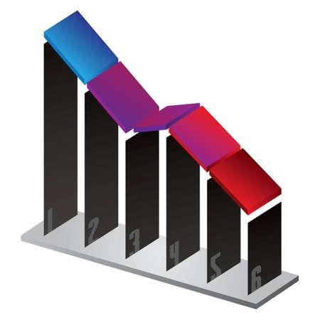decline concept 向量圖像