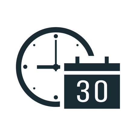 Clock with calendar Illusztráció