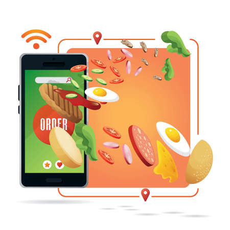 Online food ordering concept