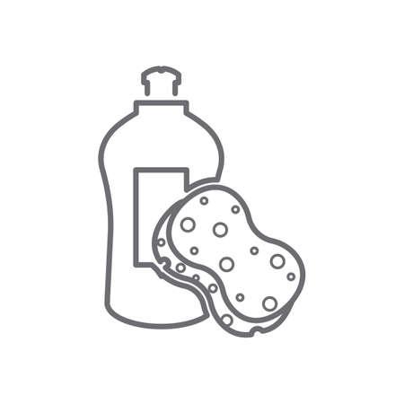 afwasmiddel met spons