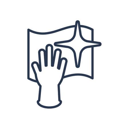 washing glove and wash cloth Ilustrace