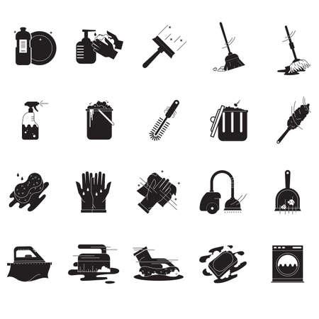 Sammlung von Reinigungswerkzeugen Standard-Bild - 77421834