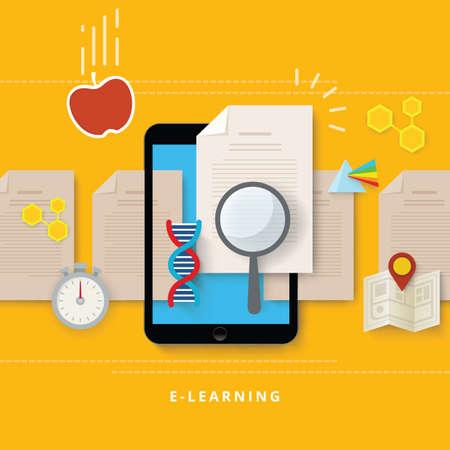 e-learning concept Stock Illustratie