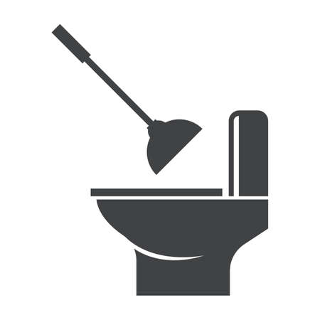 Toilet bowl with plunger