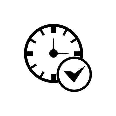 clock settings saved icon Stock Vector - 77421837