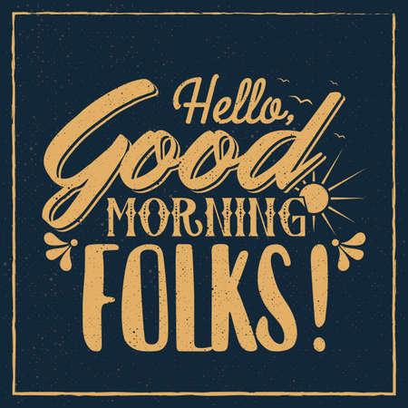 morning greeting design