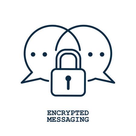 encrypted messaging Иллюстрация