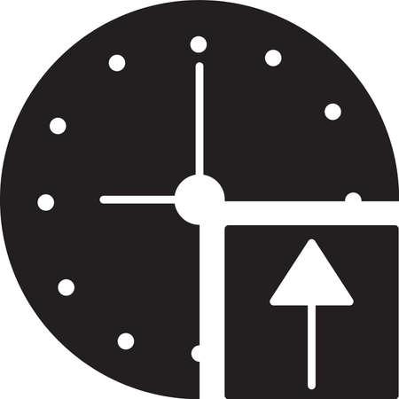 clock with arrow icon Stock Vector - 77504829