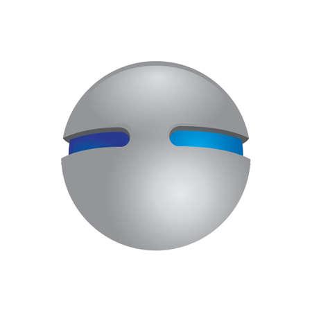 球形ロゴ要素設計