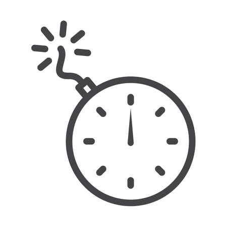 Tijdbom icoon Stock Illustratie