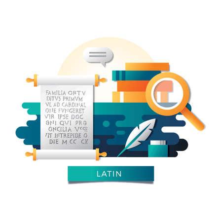 라틴어 개념 일러스트