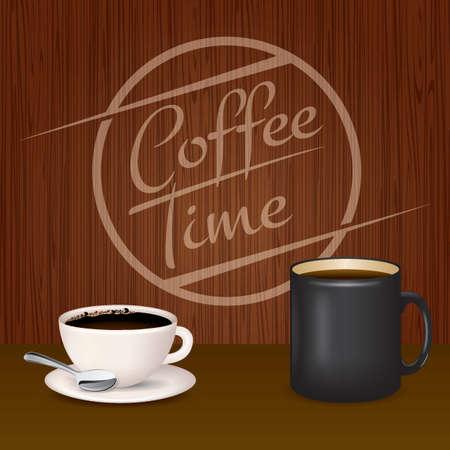 coffee time design Illusztráció