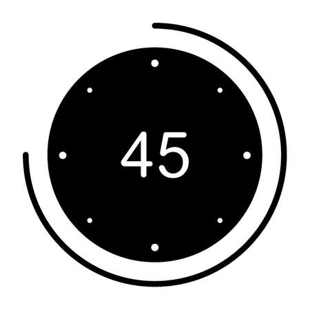 45 秒のアイコン。