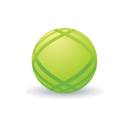 Spherical logo element design Illustration