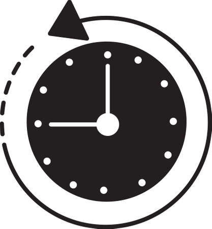 clock with anticlockwise icon