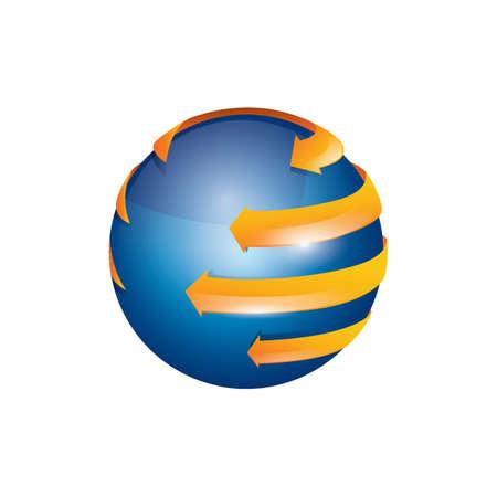 transparent globe: Globe design Illustration