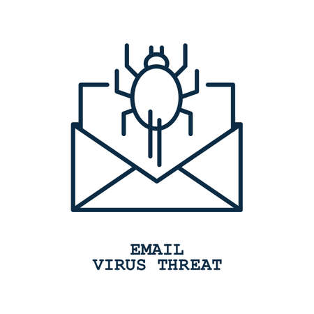 電子メール ウイルスの脅威のコンセプト