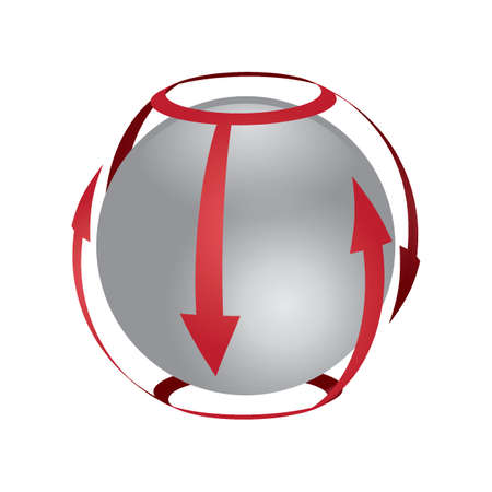 Spherical logo element design Ilustrace