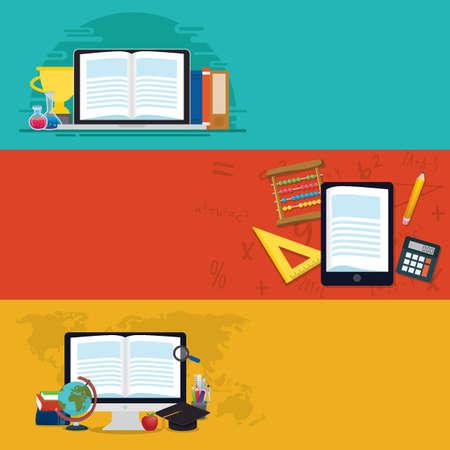 set van e-learning concept