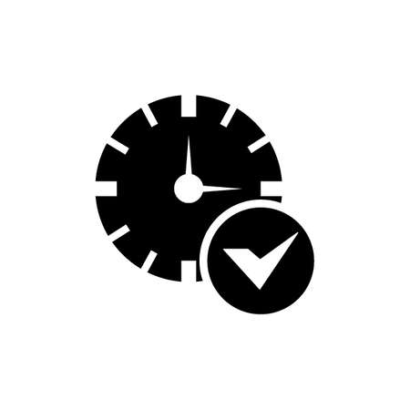 clock settings saved icon Stock Vector - 77176576