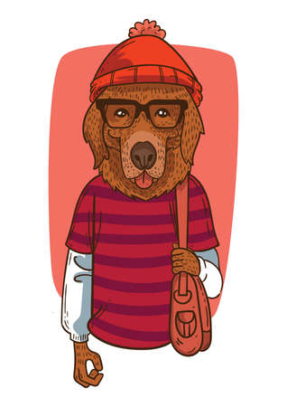 fashionable dog Illustration