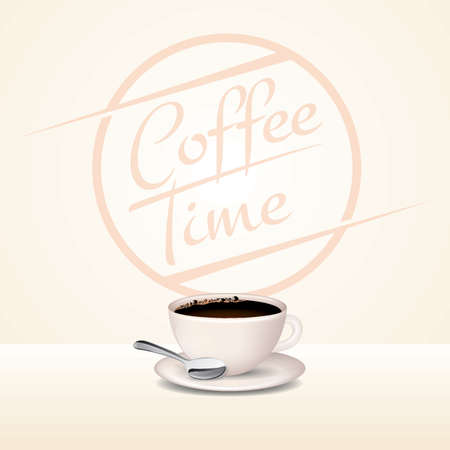 coffee time design Illustration