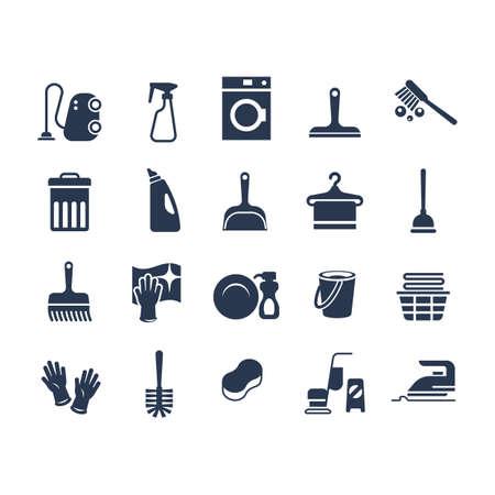 Set van schoonmaak pictogrammen Stockfoto - 77177612