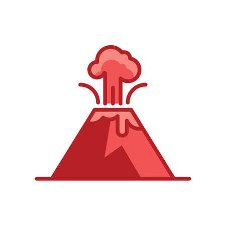RUption volcanique Banque d'images - 77422322